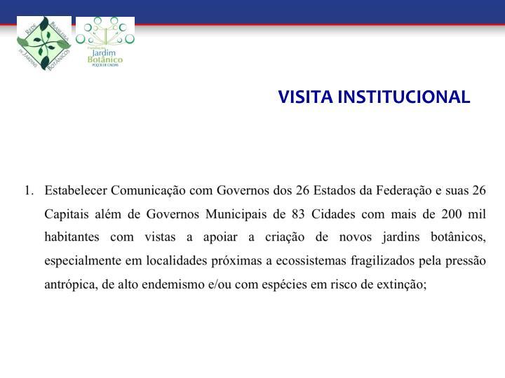 VISITA INSTITUCIONAL