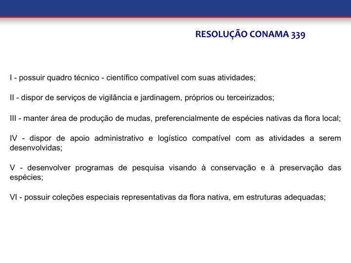 RESOLUÇÃO CONAMA 339