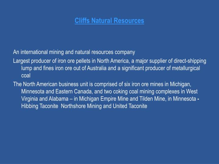 Cliffs Natural Resources
