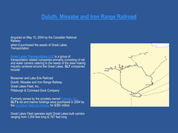 Duluth, Missabe and Iron Range Railroad