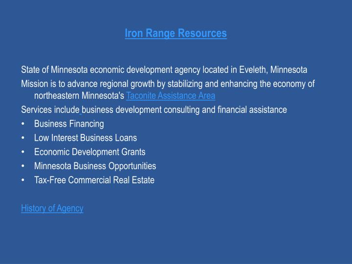 Iron Range Resources