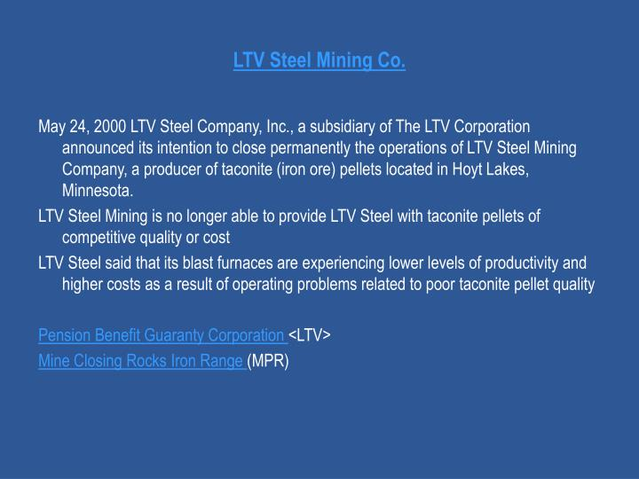 LTV Steel Mining Co.