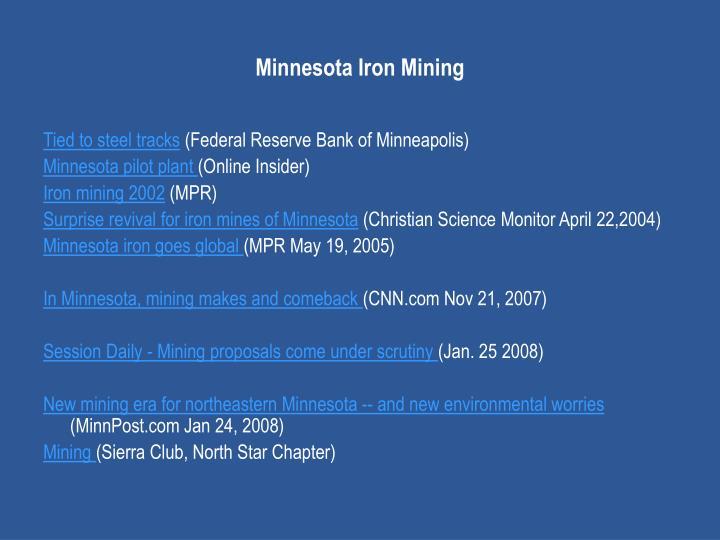 Minnesota Iron Mining