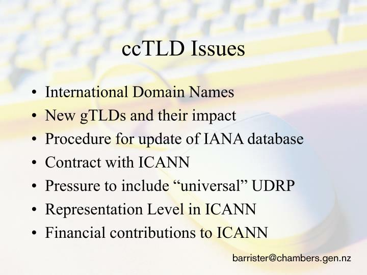 ccTLD Issues
