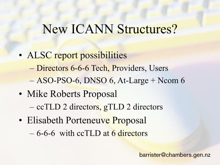 New ICANN Structures?