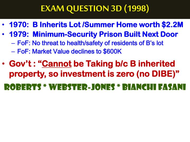 EXAM QUESTION 3D (1998)