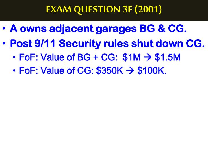 EXAM QUESTION 3F (2001)