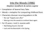 into the woods 1986 stephen sondheim james lapine