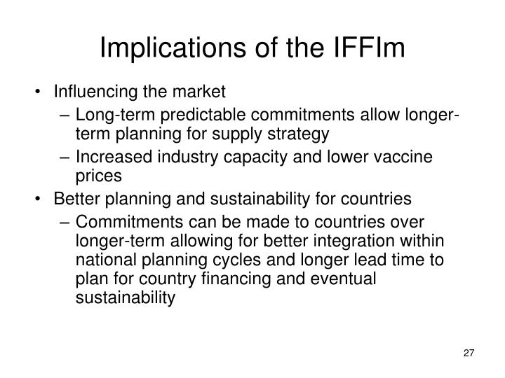 Implications of the IFFIm