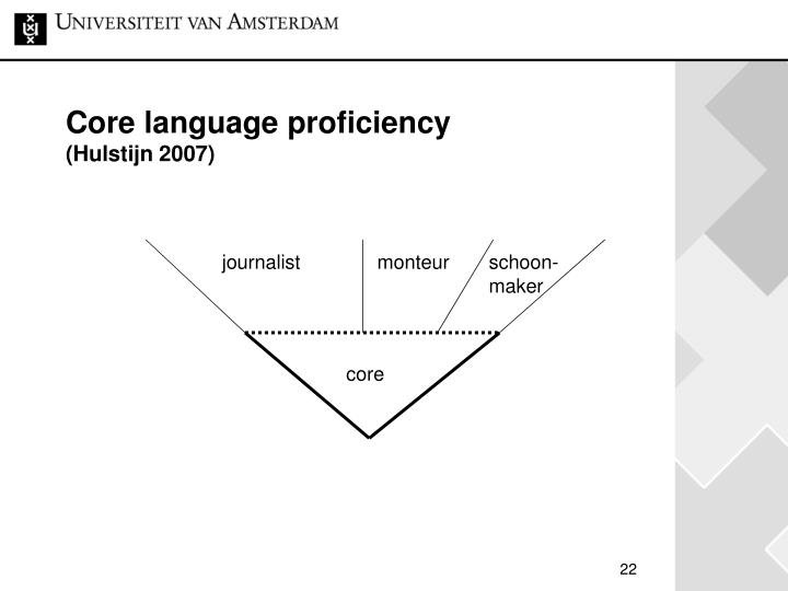 Core language proficiency