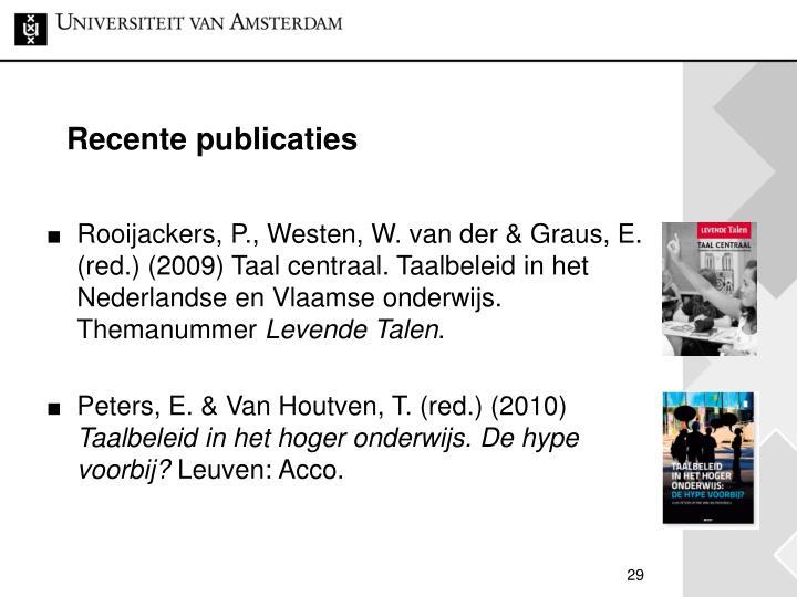 Recente publicaties