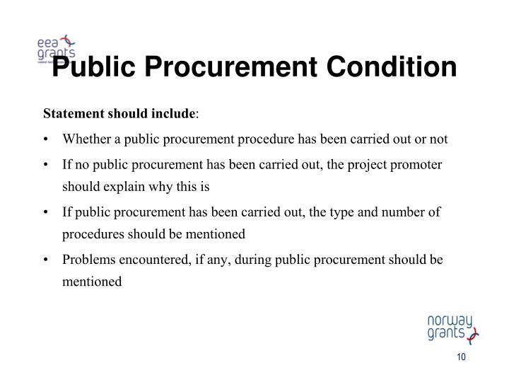 Public Procurement Condition