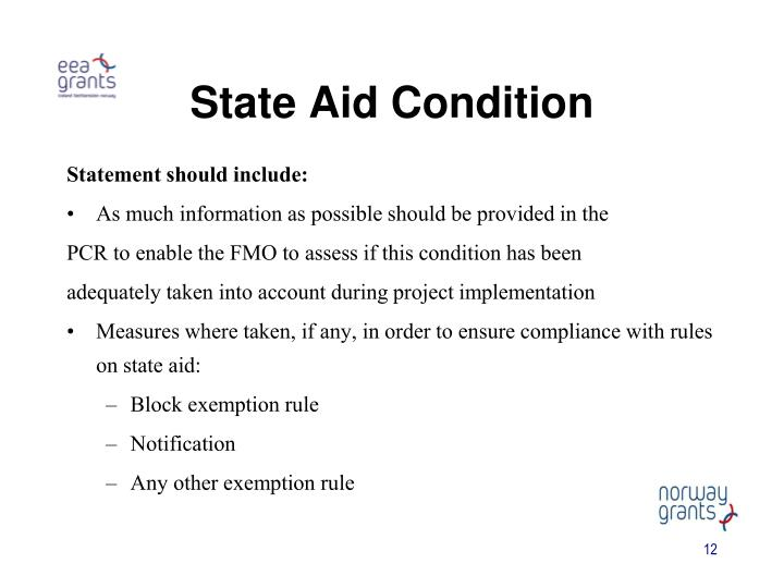 State Aid Condition