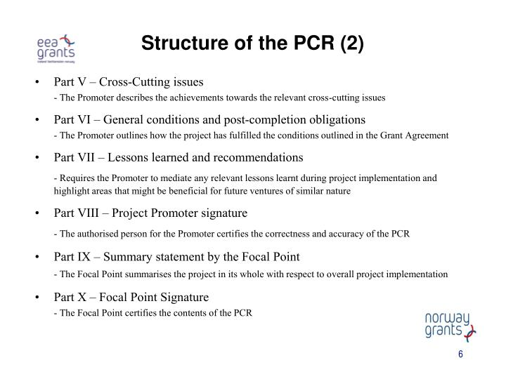 Structure of the PCR (2)