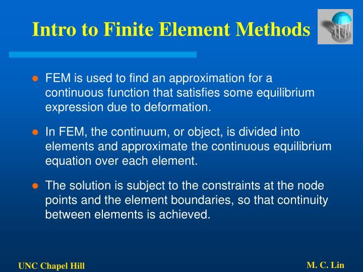 Intro to Finite Element Methods
