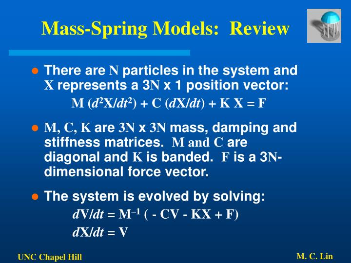 Mass-Spring Models:  Review