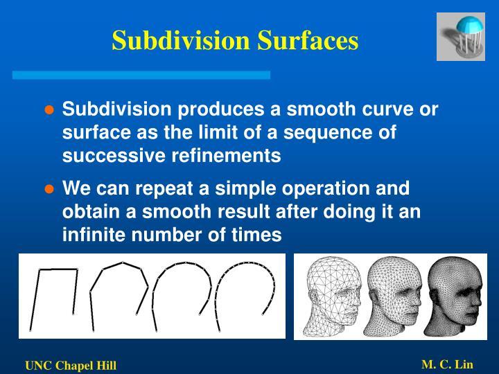 Subdivision Surfaces