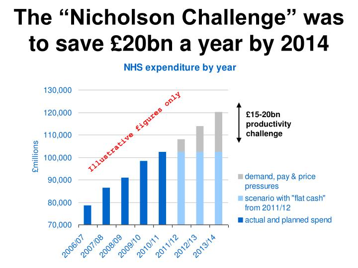 "The ""Nicholson Challenge"" was to save £20bn a year by 2014"