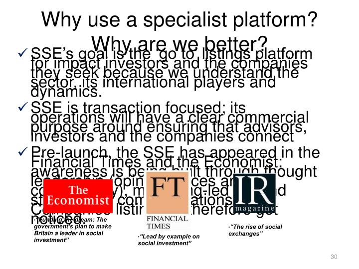Why use a specialist platform? Why are we better?