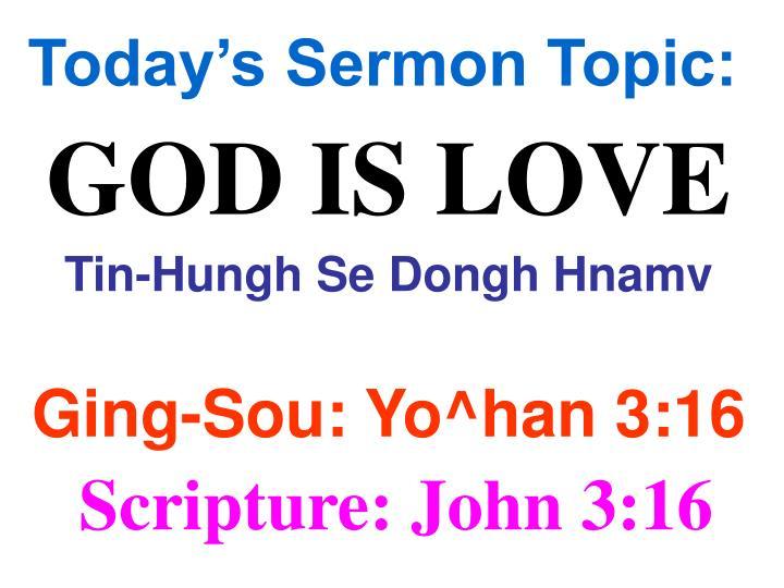 Today's Sermon Topic: