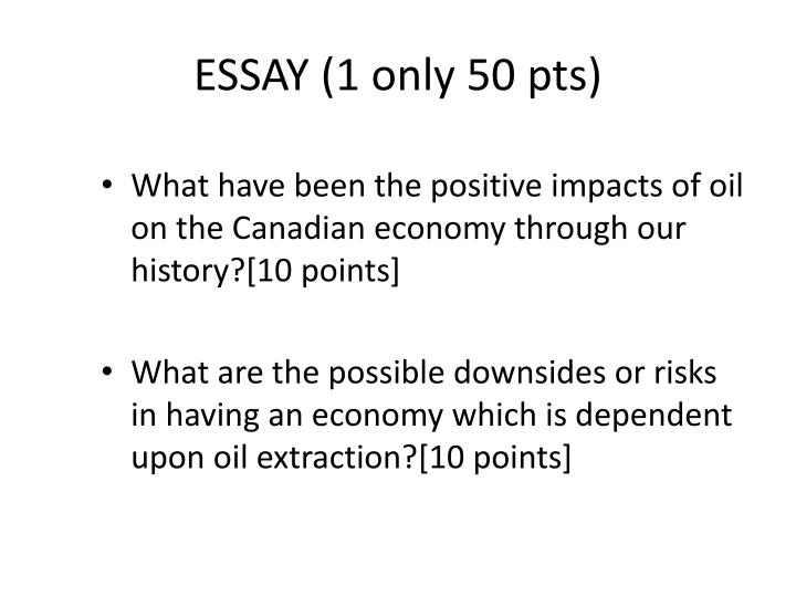ESSAY (1 only 50 pts)