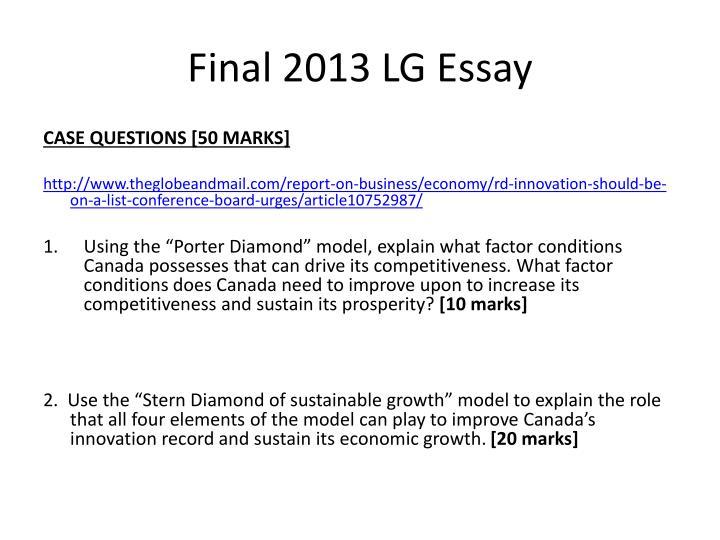 Final 2013 LG Essay