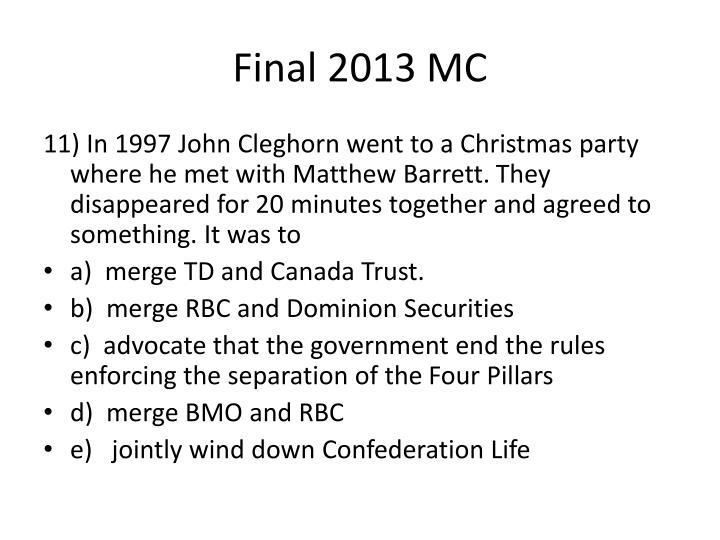Final 2013 MC