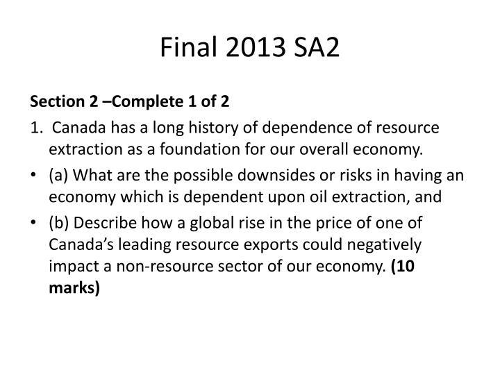 Final 2013 SA2