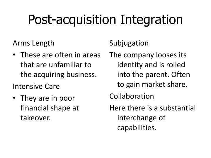 Post-acquisition Integration