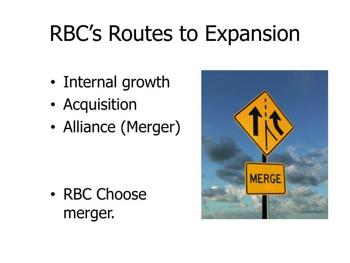 RBC's Routes to Expansion