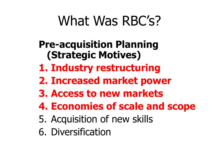 What Was RBC's?