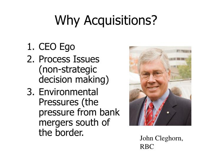 Why Acquisitions?