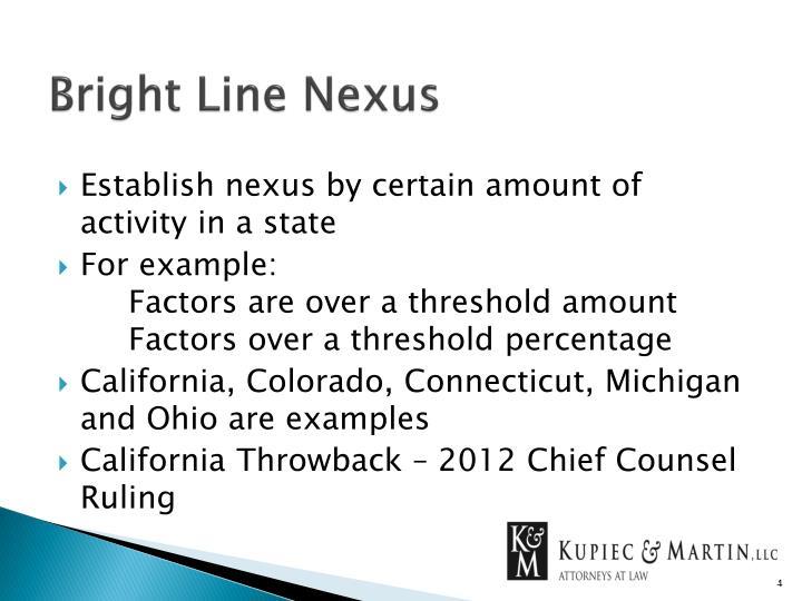 Bright Line Nexus