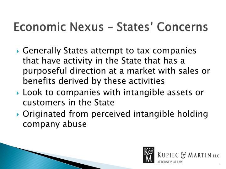 Economic Nexus – States' Concerns