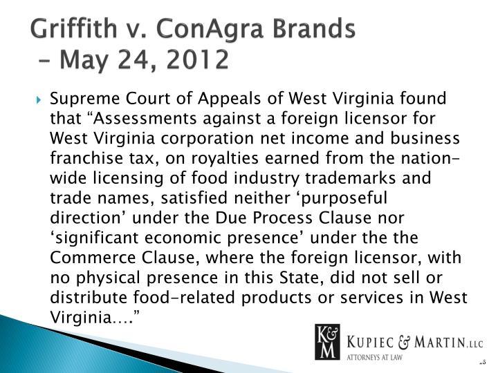 Griffith v. ConAgra Brands