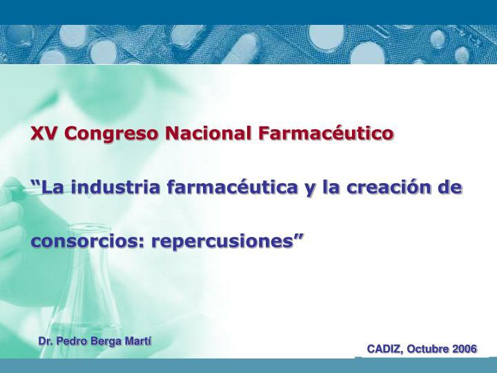XV Congreso Nacional Farmacéutico