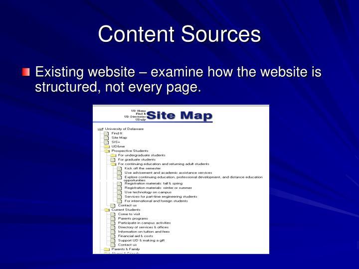 Content Sources