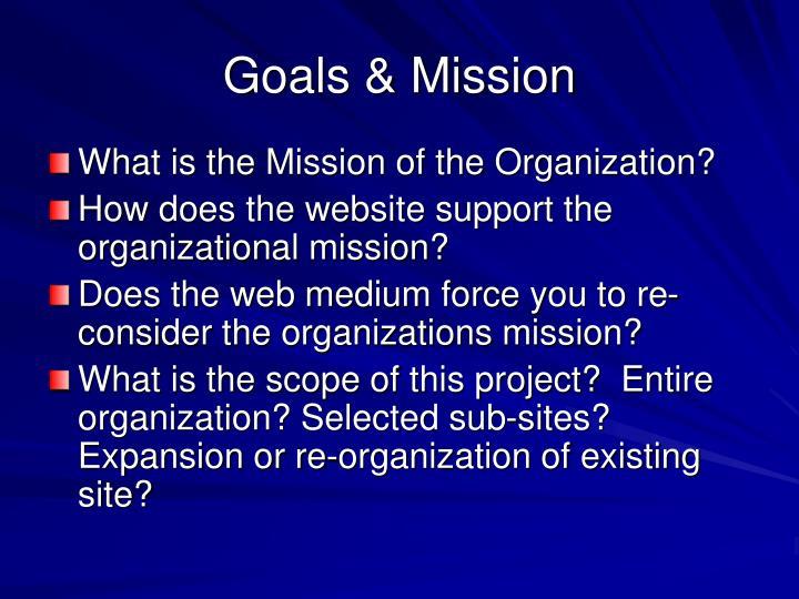 Goals & Mission