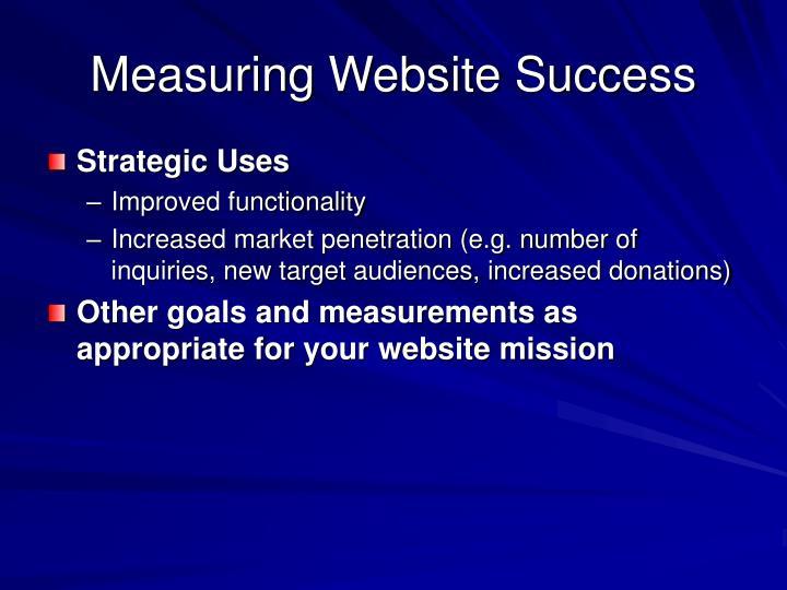 Measuring Website Success