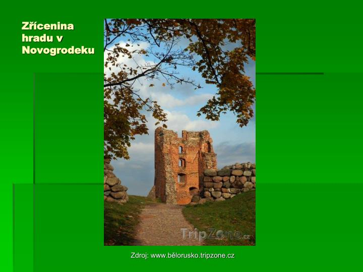 Zřícenina hradu v