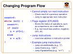 changing program flow