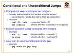 conditional and unconditional jumps