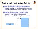 control unit instruction pointer