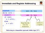 immediate and register addressing