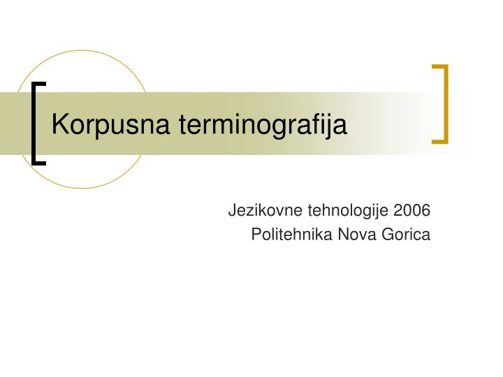 Korpusna terminografija