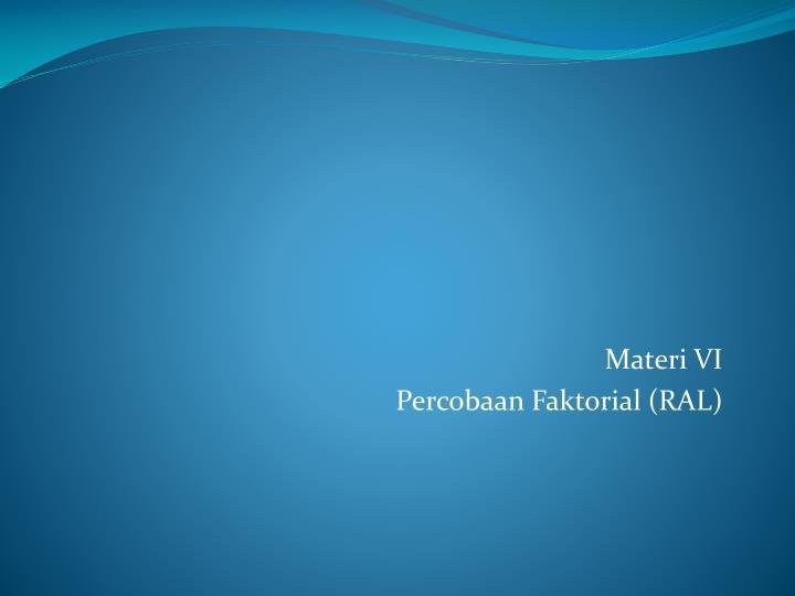 Materi VI
