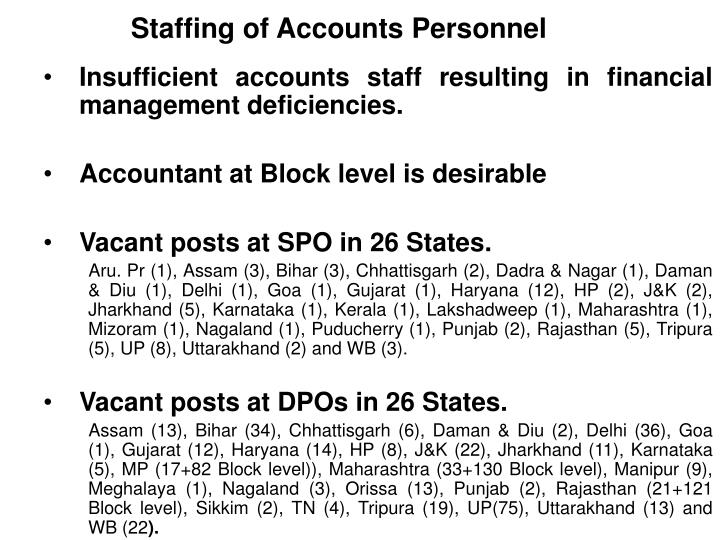 Staffing of Accounts Personnel