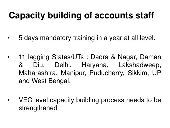 Capacity building of accounts staff
