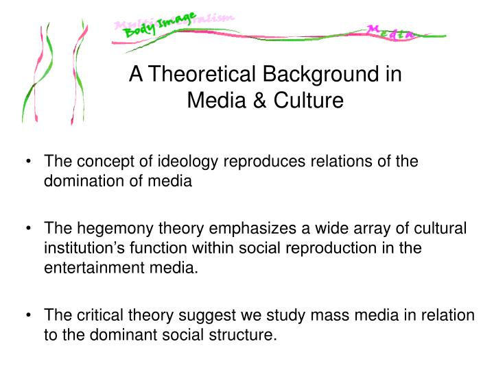 The concept of ideology reproduces relations of the domination of media