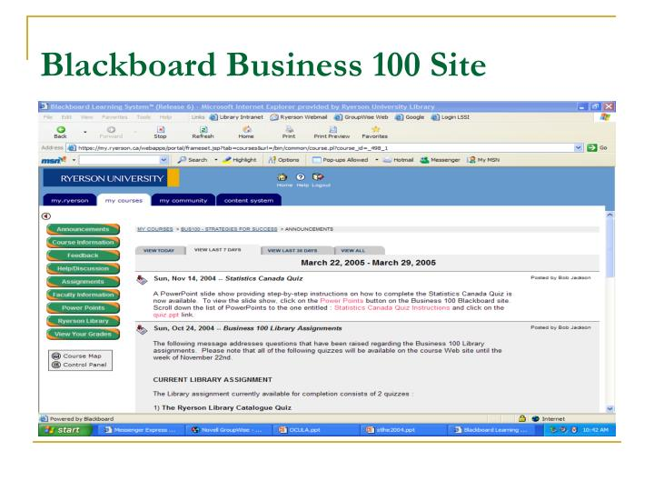 Blackboard Business 100 Site